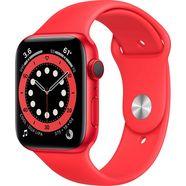 apple watch series 6 gps + cellular, aluminiumbehuizing met sport 44 mm inclusief oplaadstation (magnetische oplaadkabel) rood