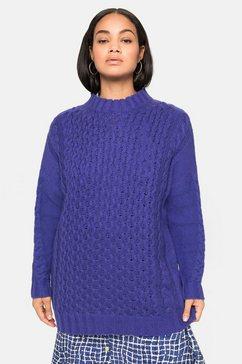 sheego trui met staande kraag paars
