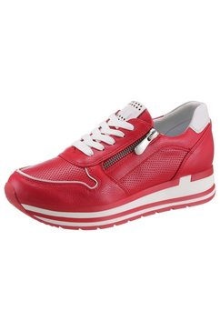 marco tozzi plateausneakers rood