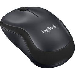 logitech »m220 silent« muis, 2,4 ghz (draadloos, 1000 dpi) zwart