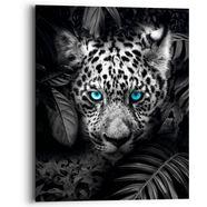 reinders! artprint op hout blue eyed leoprad (1 stuk) zwart