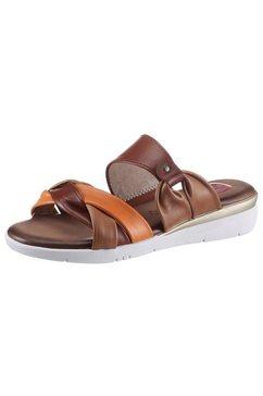 jana slippers in vlecht-design bruin