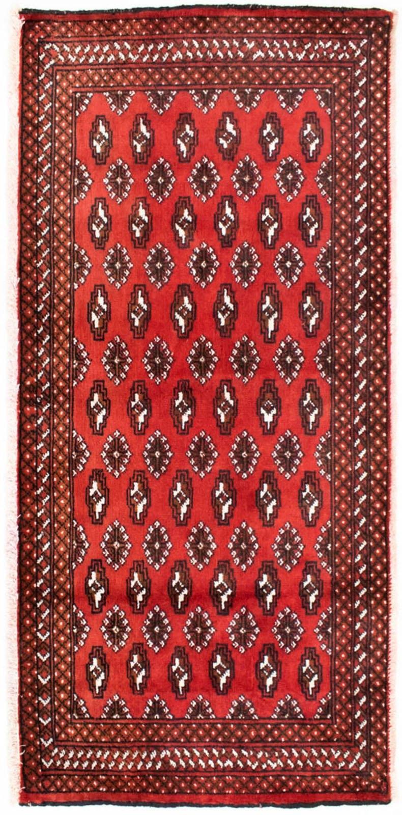 morgenland wollen kleed Turkaman Teppich handgeknüpft rot nu online bestellen