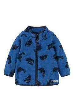 tom tailor sweatvest fleecejack met print blauw