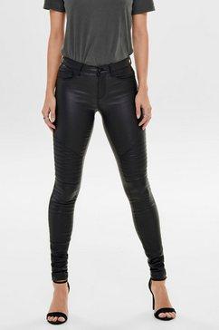 only imitatieleren broek onlnew royal in trendy biker-look zwart
