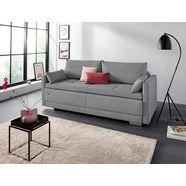 inosign bedbank alexander boxspringvering, incl. slaapfunctie en bedkist met comfort-zithoogte grijs