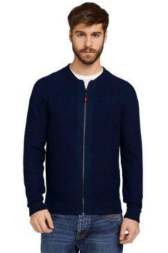 tom tailor cardigan met een ritssluiting blauw