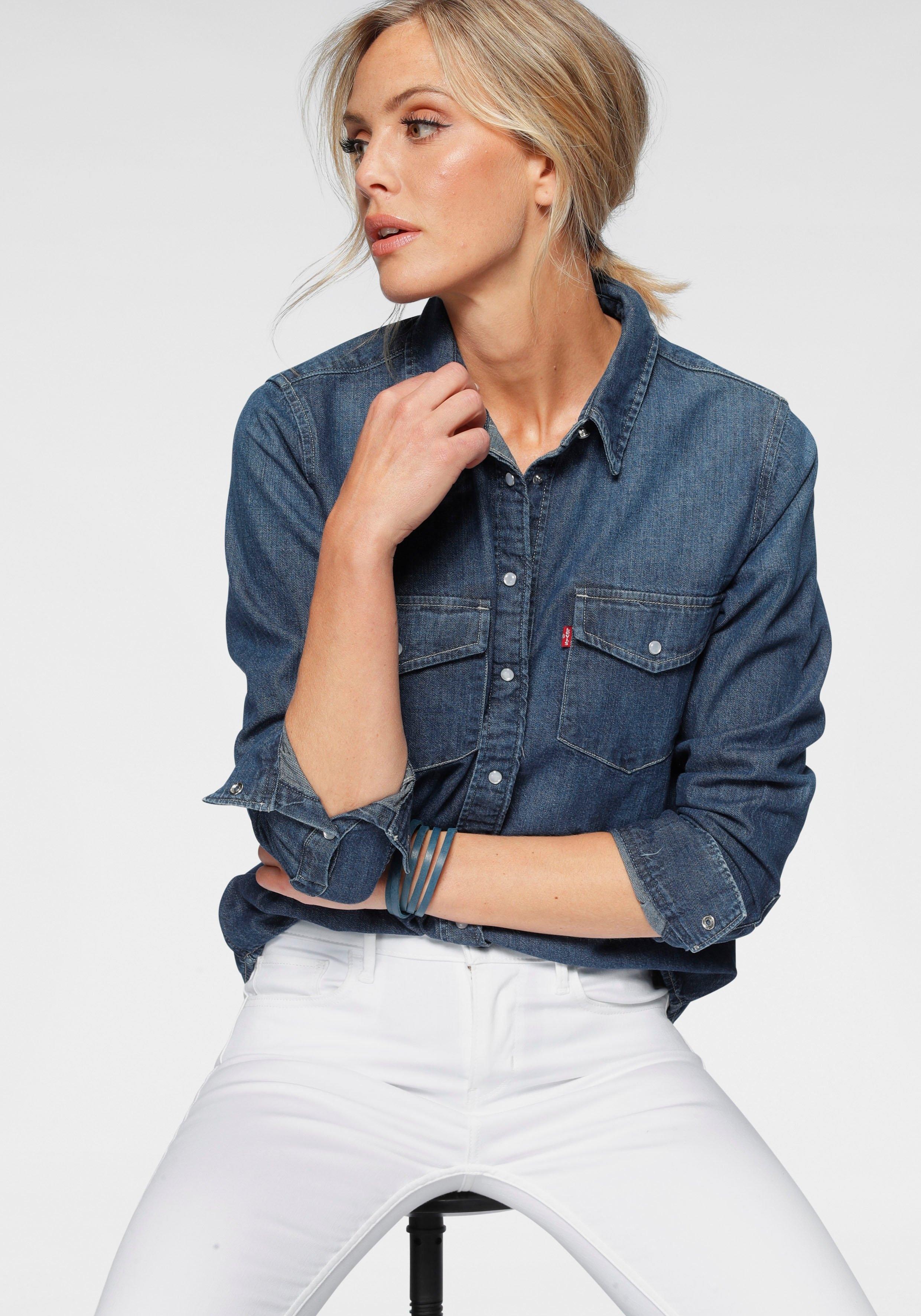 Levi's jeansblouse ESSENTIAL WESTERN met borstzakken met drukknopen voordelig en veilig online kopen