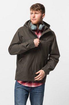 jack wolfskin functioneel jack caledon jacket m bruin