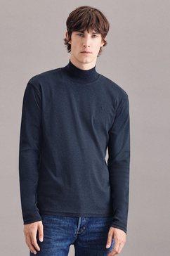 seidensticker trui met staande kraag zwarte roos grijs