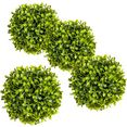 creativ green kunstplant buxusbol (4 stuks) groen