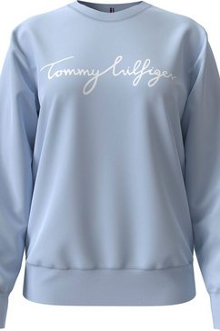 tommy hilfiger sweatshirt »regular graphic c-nk sweatshirt« blauw