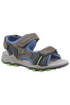 tom tailor sandalen met veel siernaden grijs