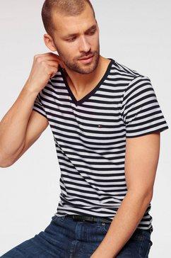 tommy hilfiger shirt met v-hals stretch slim fit vneck tee wit