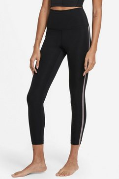 nike yogatights nike yoga novelty 7-8 women's tights zwart