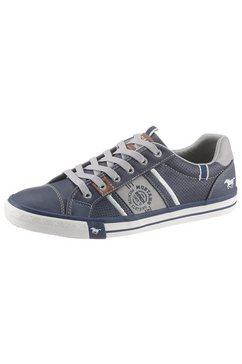 mustang shoes slip-on sneakers met opgestikte veters blauw