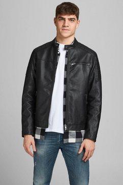 jack  jones bikerjack rocky jacket zwart