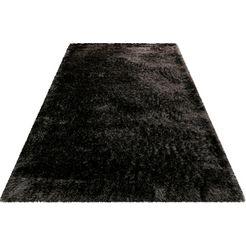 wecon home basics hoogpolig vloerkleed »bella« grijs