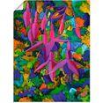 artland artprint »fuchsie« roze