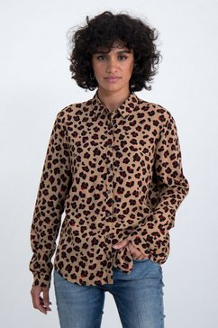garcia klassieke blouse bruin