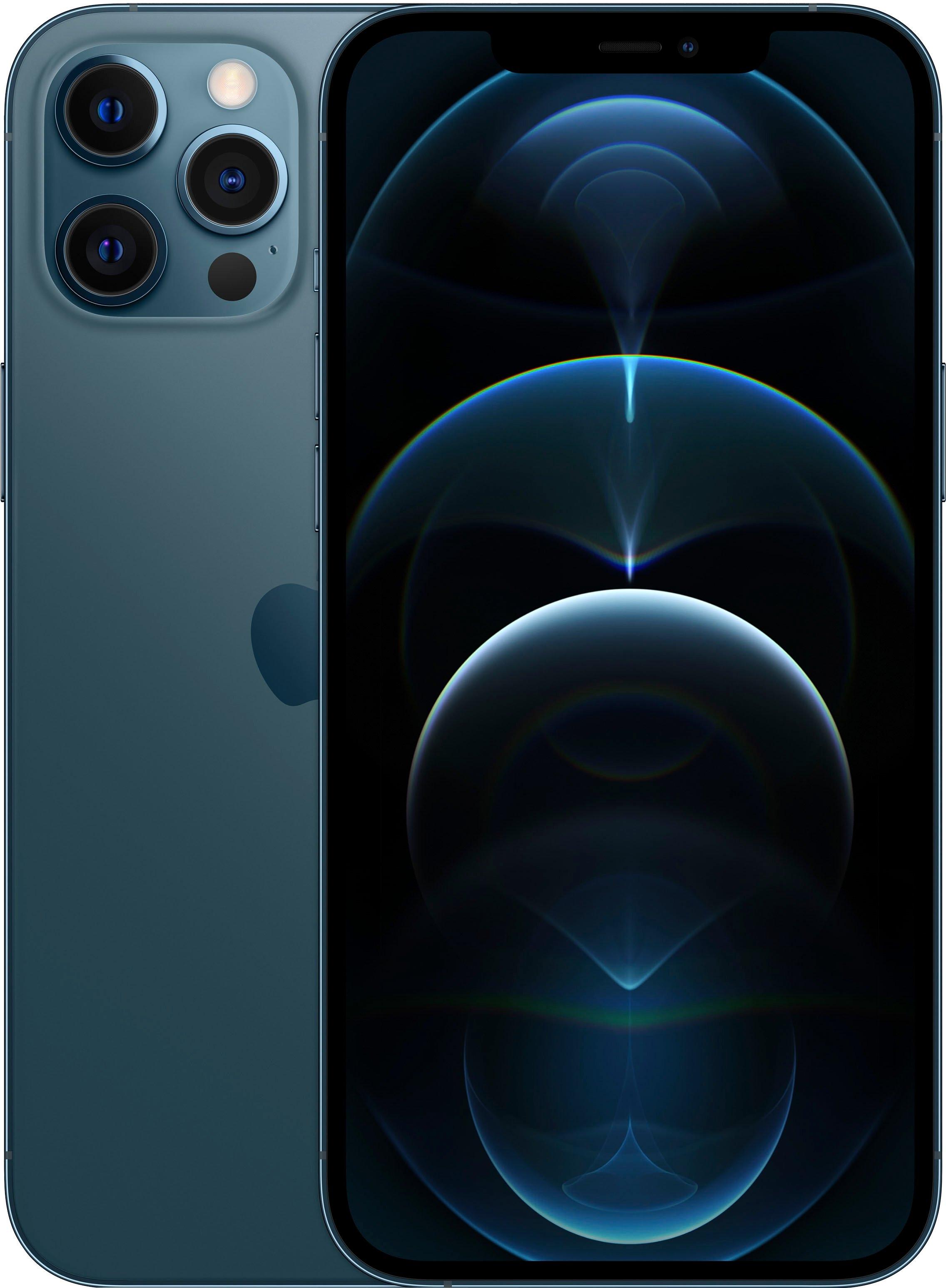 Apple smartphone IPhone 12 Pro Max - 128GB, 128 GB, zonder stroom-adapter en hoofdtelefoon, compatibel met airpods, airpods pro, earpods hoofdtelefoon - verschillende betaalmethodes