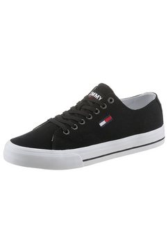 tommy jeans sneakers »long lace up vulc« zwart