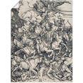 artland artprint de apocalyptische ruiter. ca. 1497x98 in vele afmetingen  productsoorten -artprint op linnen, poster, muursticker - wandfolie ook geschikt voor de badkamer (1 stuk) beige