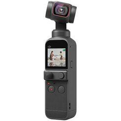 """dji gimbal pocket 2 vlog, 3-assen camera-stabilisatie 4k, 64 mp met een hoge resolutie werkende foto, 1-1.7"""" cmos, geluidsreductie, versnelde weergave, slow motion, 8x zoom, livestreaming grijs"""