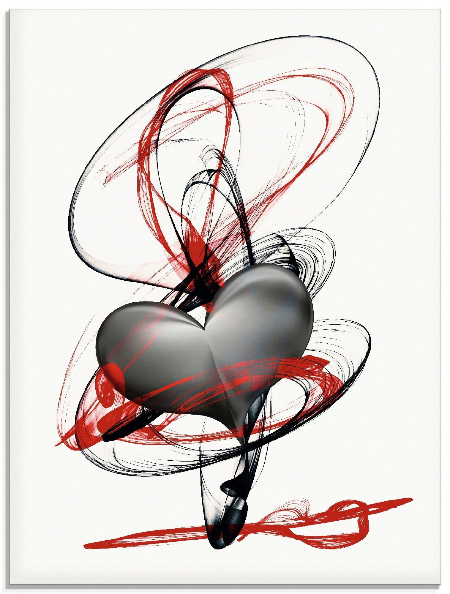 Artland print op glas Omarm mijn hart (1 stuk) voordelig en veilig online kopen
