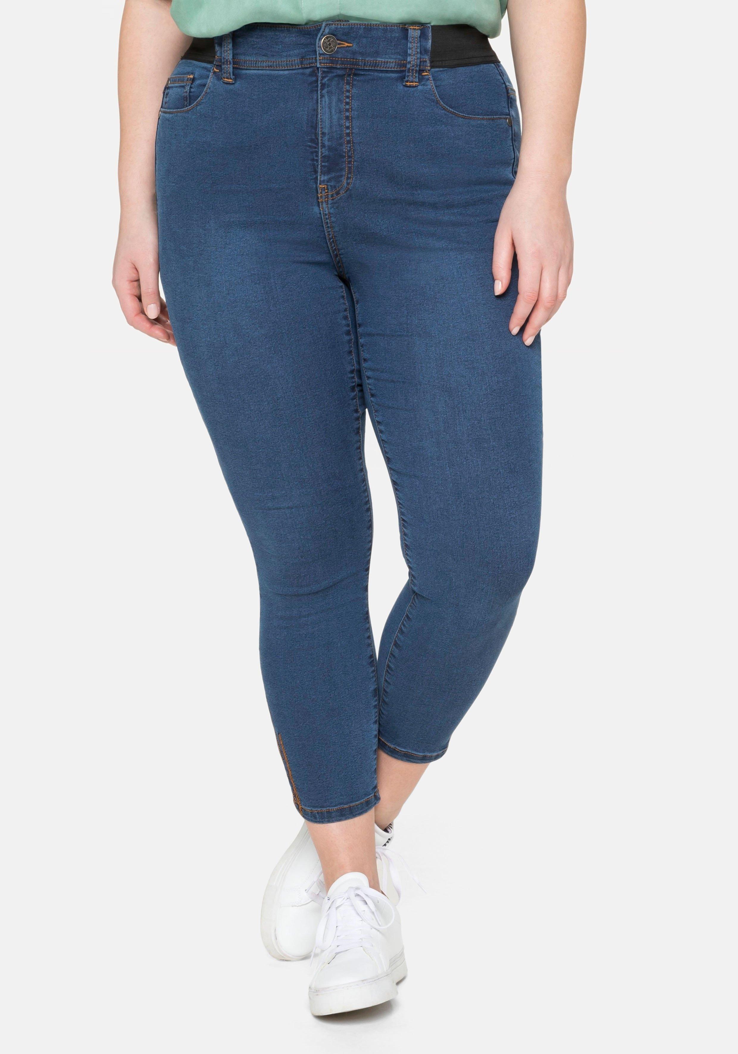 Sheego Stretch jeans in 7/8-lengte, »ultimate stretch«, groeit tot 3 maten mee in de webshop van OTTO kopen