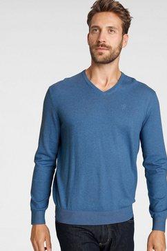 bugatti trui met v-hals blauw