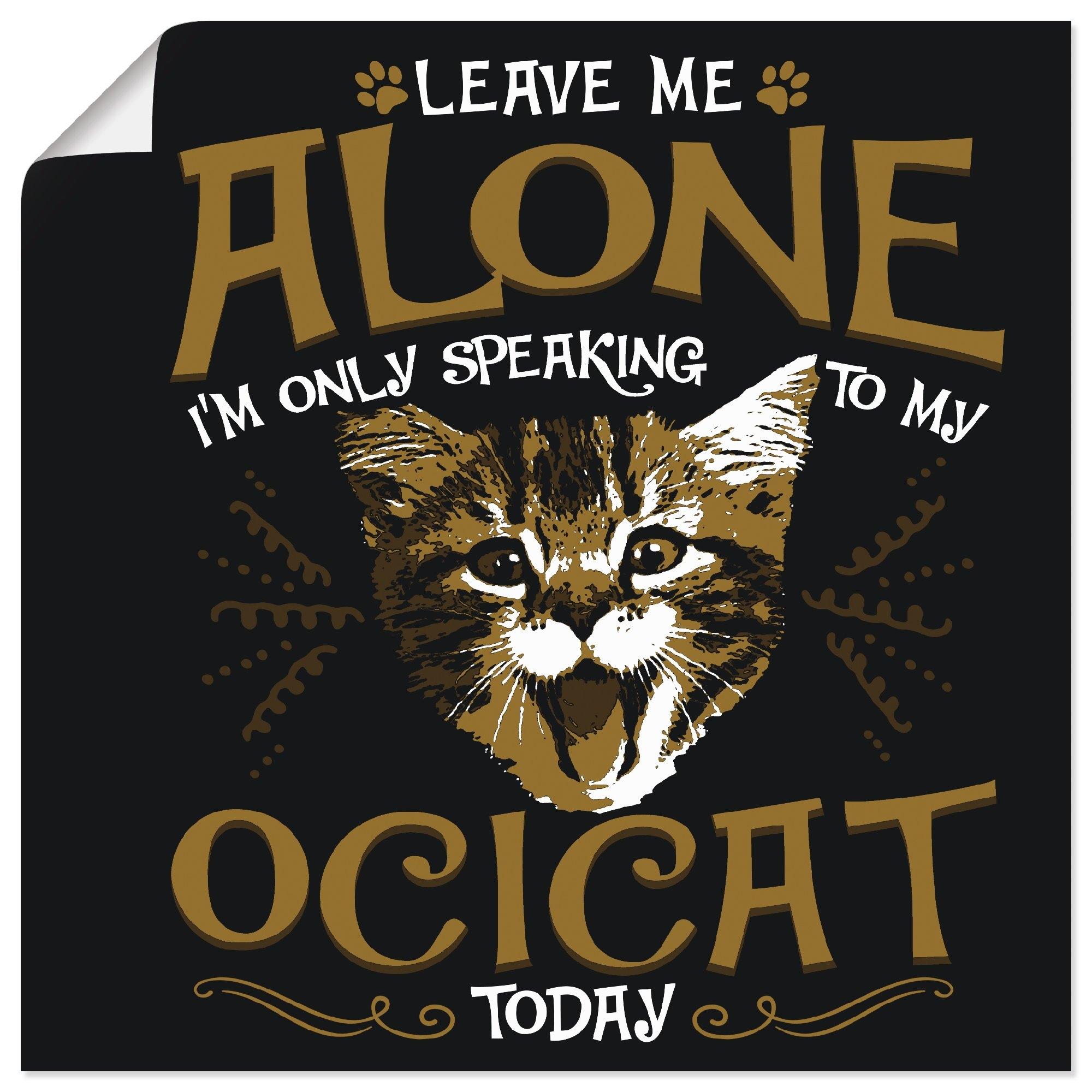 Artland artprint Ocikatze kat huisdier dier vrolijk in vele afmetingen & productsoorten - artprint van aluminium / artprint voor buiten, artprint op linnen, poster, muursticker / wandfolie ook geschikt voor de badkamer (1 stuk) nu online bestellen