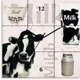 artland wandklok melk zwart
