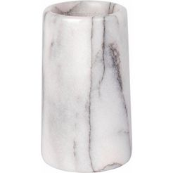 wenko poetsbeker onyx steen-look (1 stuk) wit