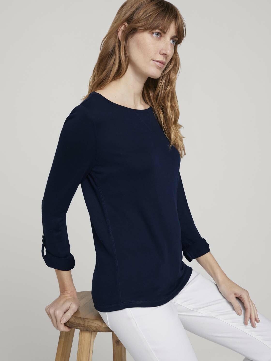 Tom Tailor shirt met lange mouwen »T-Shirt in Melange Optik« - verschillende betaalmethodes