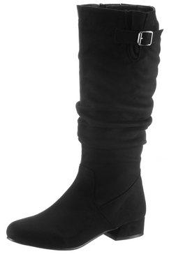 city walk laarzen met gerimpelde schacht zwart