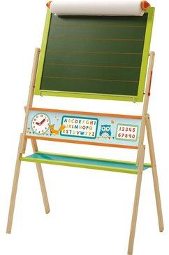 roba schoolbord abc uil tweezijdig, met witte magneetkant groen
