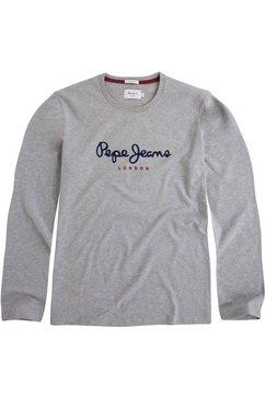 pepe jeans shirt met lange mouwen eggo long grijs