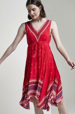tom tailor zomerjurk »luftiges tuchleid mit musterung« rood