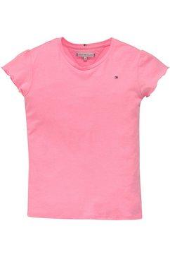 tommy hilfiger t-shirt met klein borduursel roze