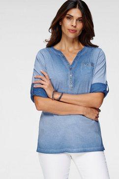 boysen's lang shirt in used-look blauw
