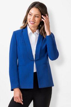 lady korte blazer blauw
