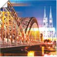 artland artprint »koeln skyline abstrakte collage 10« goud