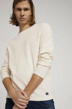 tom tailor denim gebreide trui gestructureerde trui beige