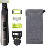 philips elektrisch scheerapparaat oneblade pro qp6550-30 precisiekam met 14 instellingen - nat of droog te gebruiken zwart