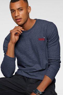 superdry shirt met lange mouwen »ol vintage emb ls top ns,« blauw
