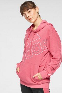adidas performance hoodie »fav q1 hd« roze