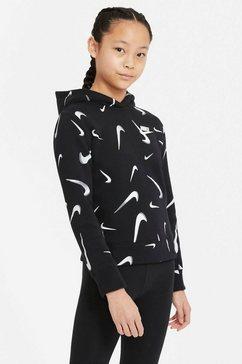 nike sportswear hoodie nike sportswear big kids' printed hoodie zwart
