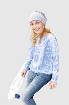 kidsworld shirt met vleermuismouwen met smalle mouwen blauw