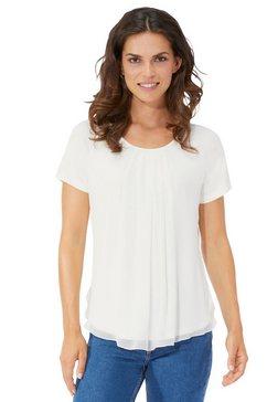 shirt met afgeronde zoom wit